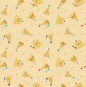 Lewis & Irene - Small Things By The Sea - 6599 - Sandcastles on Yellow - SM20.2 - Cotton Fabric